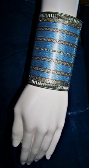 Gypsy Boho style copper and metal arm bangle bracelet