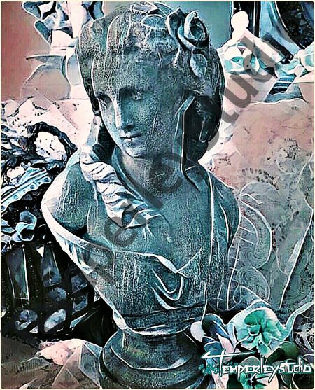 Shabby chic lady bust maiden
