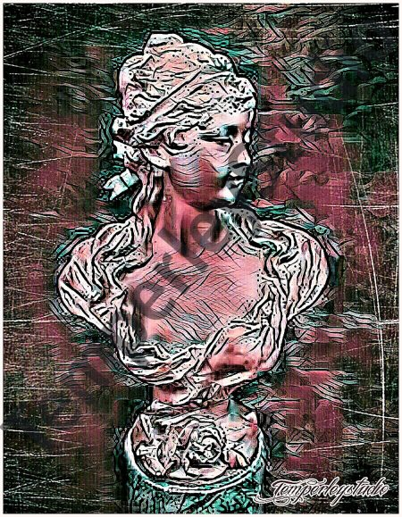 Vibrant lady bust (2)