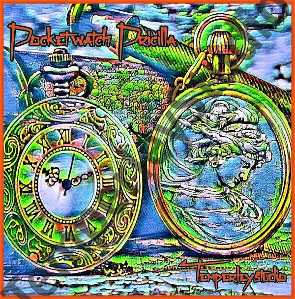 Pocket watch Priscilla in vibrant style