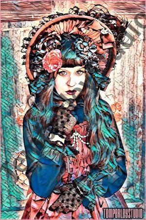 Steampunk Lolita girl in pose