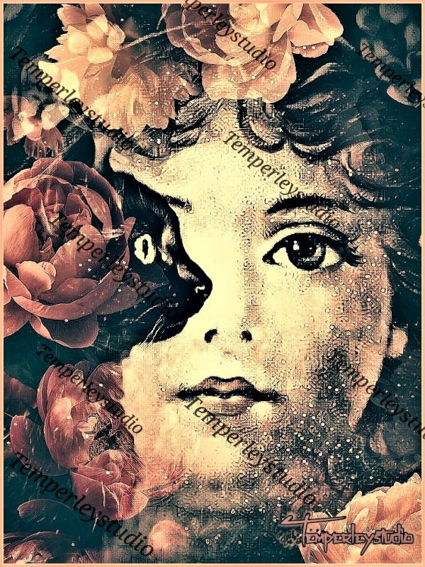 Baby face angel and black cat artwork print