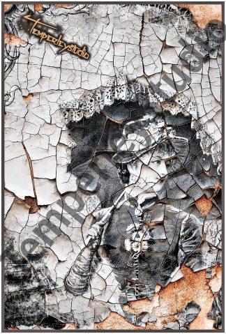 Shatter art Victorian maiden