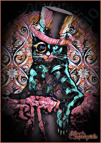 Gothic gentleman cat