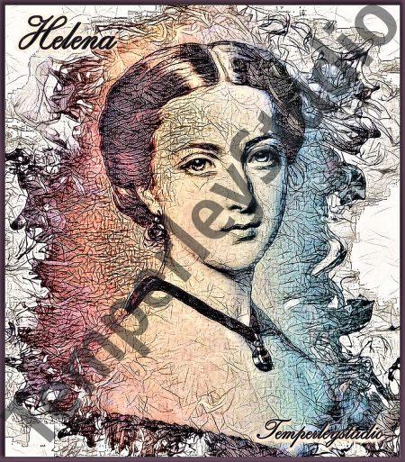 Princess Helena in watercolour look