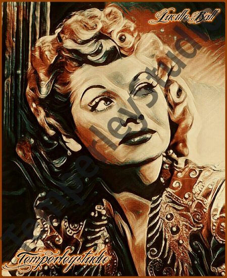 1950 I love Lucy in a retro vintage look