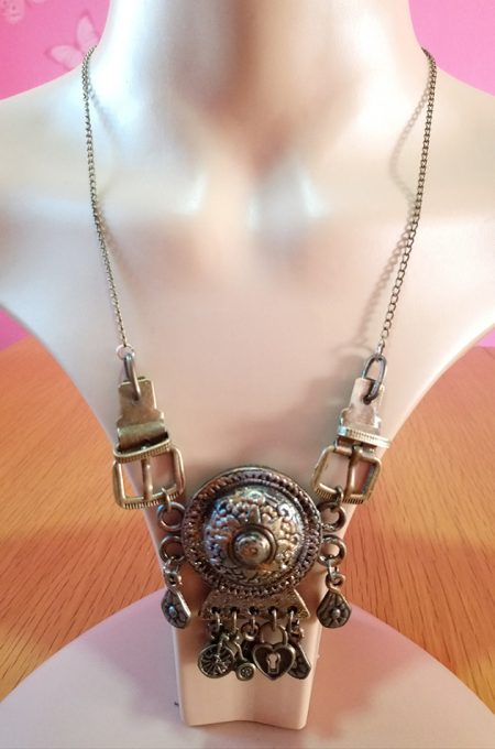 Victorian charm and buckle pendant