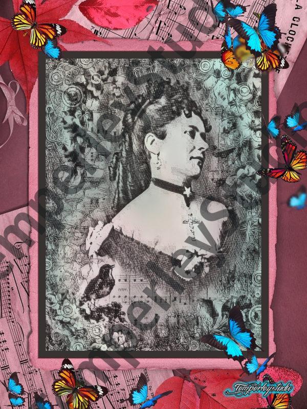 Lolita lady in a butterfly world
