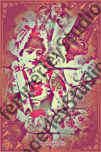 Shabby Lolita girl in a dream