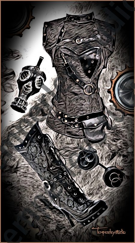 Gothic steampunk outfit set
