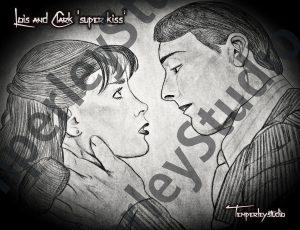 Lois and Clark super kiss