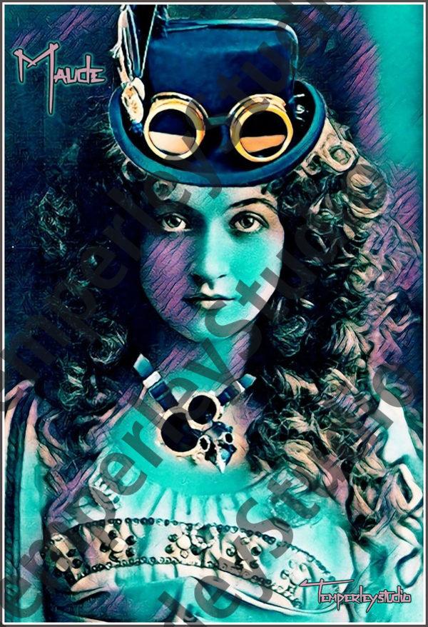 Maude in steampunk scene