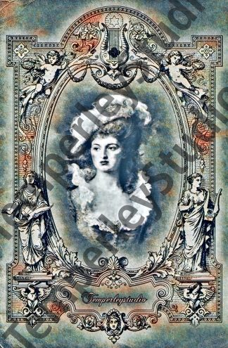 Victorian lady of the manor in frame