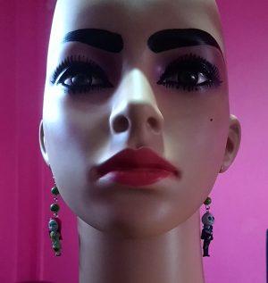 Jack and Sally nightmare before Christmas charm earrings