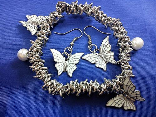 White Lolita butterfly set