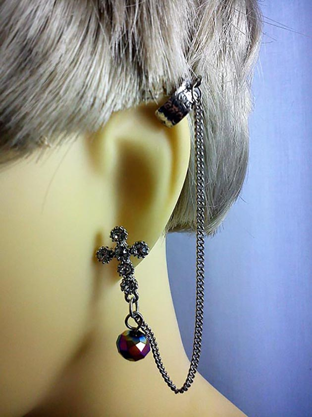 Crystal cross and crystal bead cuff