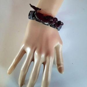 Gunmetal mermaid bracelet