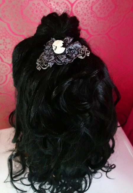 Victorian Lolita cameo and lace hair clip