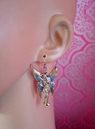 Fantasy Steampunk fairy earrings