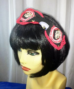 Betty Boop large red lace bow hair clip