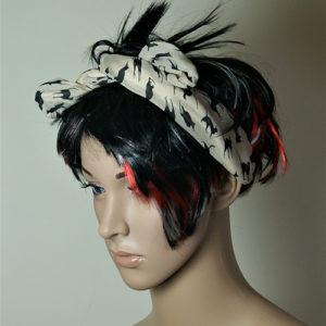 Black cat hair band