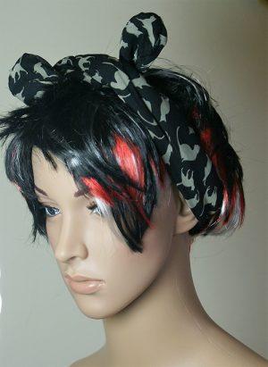 Cat print hair band