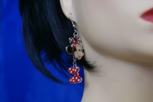 Mini Mouse Lolita Rockabilly necklace and earring set