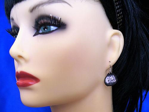 Gothic Lolita girl cameo earrings