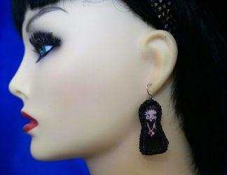 Lolita Betty Boop cameo earrings