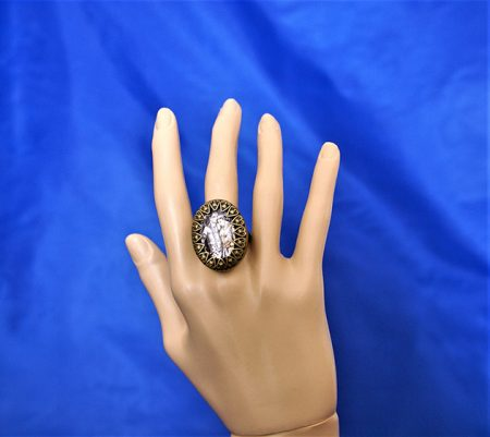 Krishna and Radha camoe ring