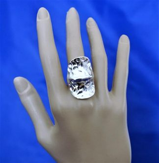 Silver amour (unisex) plate ring