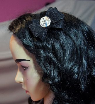 Alice in Wonderland lolita black bow hair clip