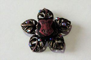 Gothic Lolita corset cameo flower brooch
