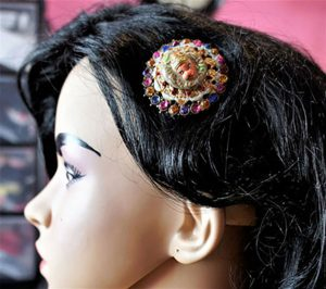 Hanuman 3D cameo jewel hair clip