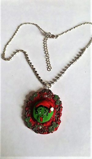 Christmas zombie Boop necklace