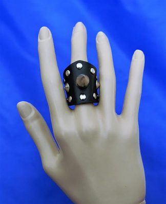 Gothic spike and stud (unisex) ring