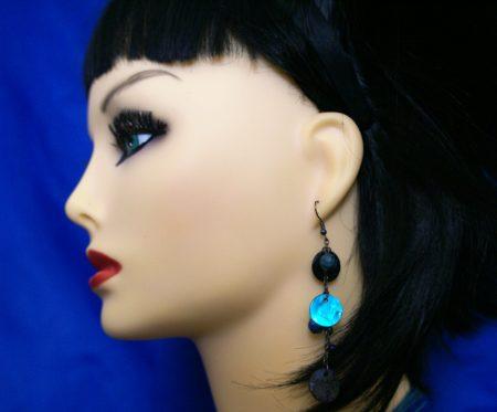 Bead and shell earrings