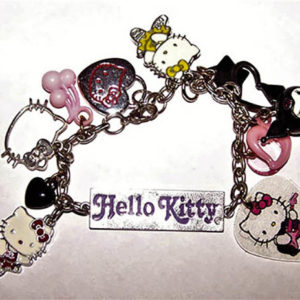 Hello kitty punk charm bracelet