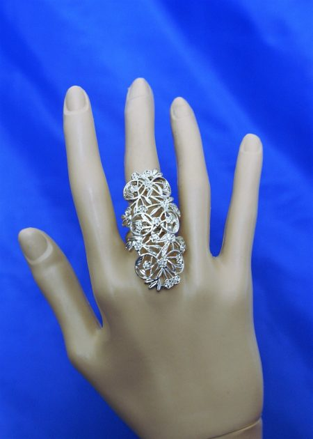 Silver filigree ring