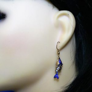 3D fish earrings