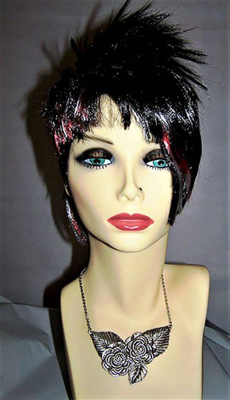 Silver rose Bohemian Lolita 3D leaf necklace