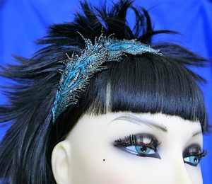Peacock feather hairband