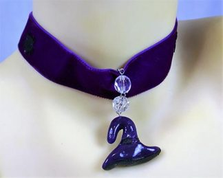 Witches hat choker necklace