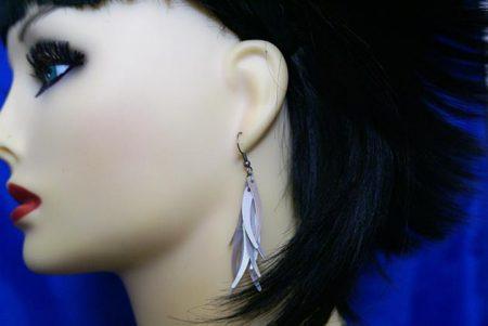 Silver wisp tassel earrings