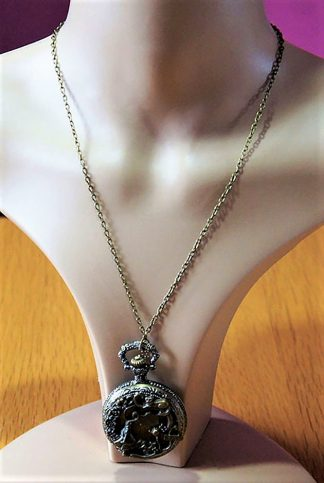 Alice in Wonderland real pocketwatch necklace