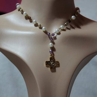 Faith Lolita beaded cross necklace