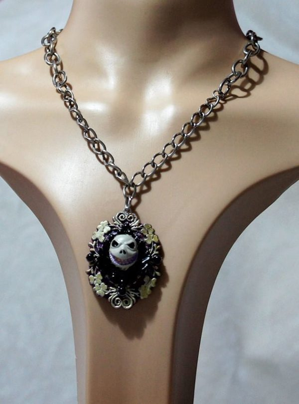 Jack Skeleton nightmare before Christmas 3D cameo necklace
