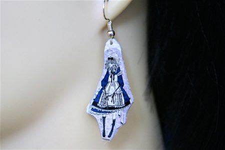 Lolita Alice cameo earrings