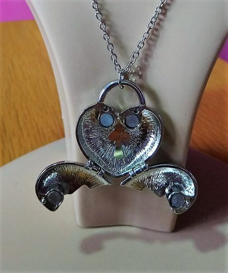 Alice in Wonderland toadstool heart locket necklace