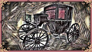 Gothic Lolita horse carriage